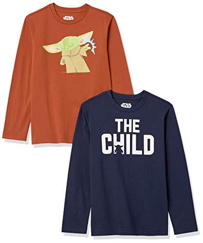 Amazon Essentials Disney Star Wars Marvel 2-Pack Long-Sleeve T-Shirt Tops Camiseta, Niño, 9-10 años
