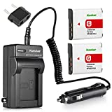 Kastar 2Pcs Battery and Charger for Sony CyberShot DSC-W120 DSC-W130 DSC-W150 DSC-W170 DSC-W210 DSC-W220 DSC-W300 DSC-W40 DSC-W50 DSC-W70 DSC-W80 DSC-W90 DSC-WX1 DSC-WX10 HDR-GW55 HDR-GW77 NP-BG1