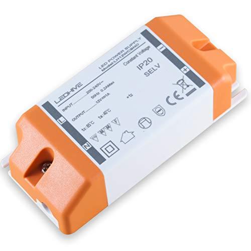 -Transformador de luz LED, de 240a 12V, con bloques terminales, de 0,5 a 12 W/240 V CA a 12 V CC-CA, sin interferencias con Wi-Fi o DAB