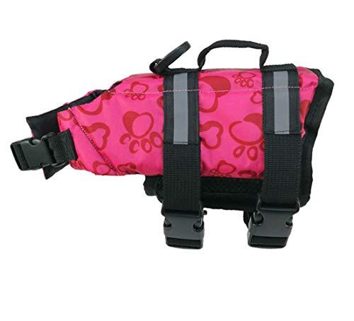 Markcur Reflektierende Schwimmweste für Hunde Outdoor Kleidung für kleine mittel große Hunde Rettungswesten Schutzkleidung Hundetraininganzug Schwimmweste XS-Rot