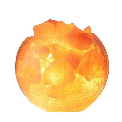 Luminaires & Eclairage/Luminaires intérieur/EC Veilleuse Cristal Lampe de sel Lampe himalayenne créatif Rond Grande Lampe de Table Chambre Chevet Chaud Romantique Rock sel Nuit