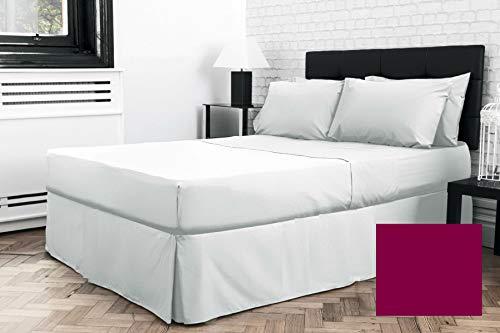 Sábana bajera plisada para cama individual de 3 pies x 6 pies 3 pulgadas (36 pulgadas x 75 pulgadas) (bajo colchón) (arándano)