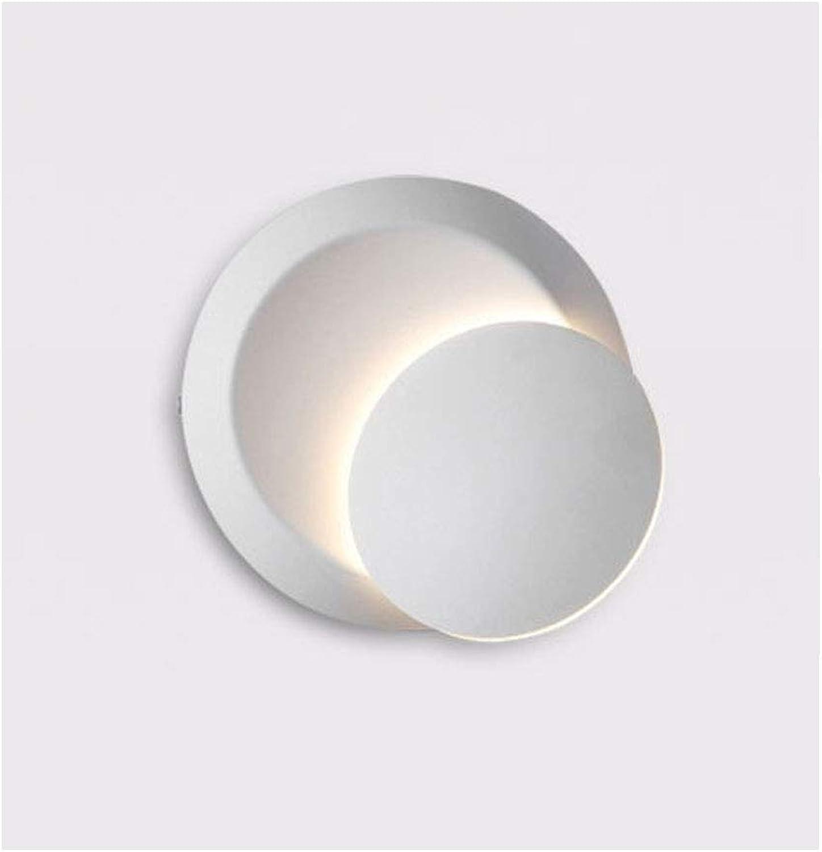 JXM Innenwandleuchte Runde LED Rotierenden Licht Moderne Minimalistische Wohnzimmer Schlafzimmer Nacht Gang 5 watt,Weiß