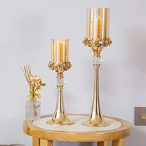 Huisdier Bowl Metalen Pijler Kaars Houders Antieke Decoratieve Kaars Bruiloft Kaars Verlichte Diner Kat Gift, Free size, Goud