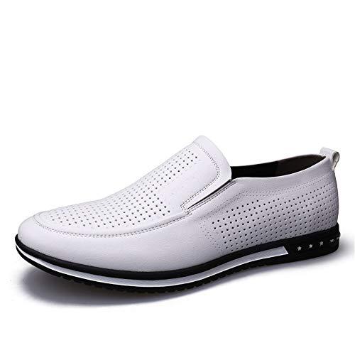 Kuangqianwei-Shoes Joker schoenen rond hoofd voor heren vrijetijdsschoenen soepele vlakke onderkant microvezel bovenmateriaal antislip, ademende wandelschoenen licht en duurzaam