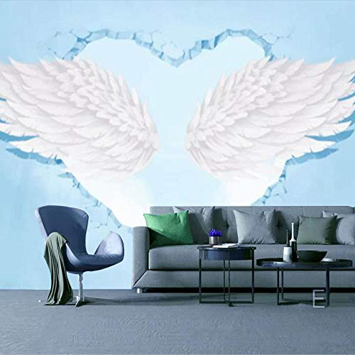 RTYUIHN 3D Wallpaper Mural 3D Stereo Photo Wallpaper Pink Wings Bedroom Living Room Modern Wall Art Decoration
