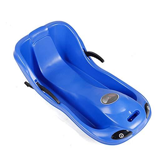 Luges Sledge Ski Traîneau extérieur Tourisme Desert Sands Ski Équipement spécial de Haut Retour Snowboard (Color : Blue, Size : 90 * 47 * 34cm)