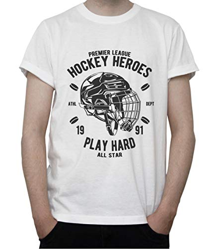DreamGirl Ice Hockey Heroes. Play Hard Mens T-Shirt Large