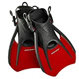 Phantom Aquatics Sport Snorkel Fins, Adjustable Travel Size Adult...