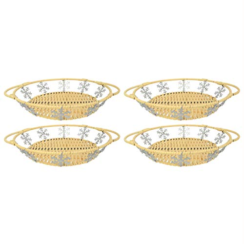 Pyrex (4) 9.5-in Snowflake Basket for 9.5-in Pie Plate (Pie Plate Sold Separately)