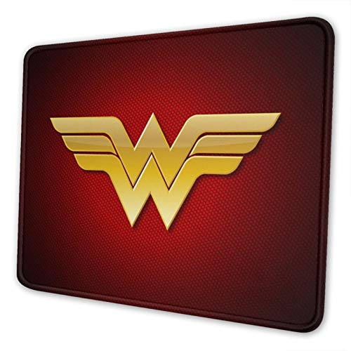 Wonder Woman Mouse Mat Non-Slip Gaming Mouse Pad with Stitched Edge Extended Lightweight Computer Mouse Pad for Home Work Laptop Pc Game Decor 7.9 X 9.5 in