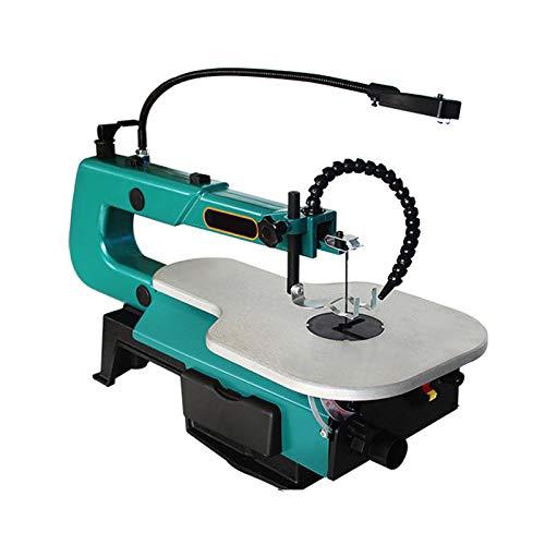 Gxnimer Sierra caladora eléctrica de Mesa de 16 Pulgadas - Máquina de Tallado de Alambre de carpintería de Velocidad Ajustable Corte de carpintería