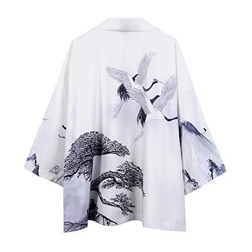 DOVWOER - Copri-bikini estivi da donna, stile kimono cardigan da spiaggia, con maniche a 3/4 Style-53. Taglia unica