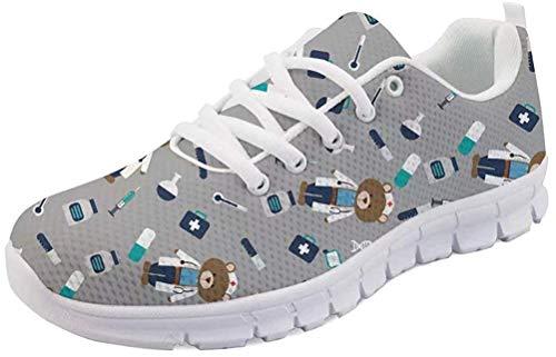 MODEGA Sneaker Damen bunt Coole mädchen Schuhe Joggingschuhe Jungen Damen Turnschuhe Sneaker leichte Turnschuhe graue Damen Schuhe Sportschuhe Damen g gr 4.5 UK|37 EU