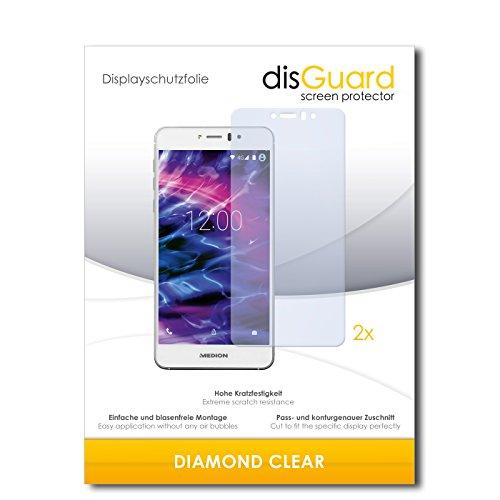 disGuard 2 x Bildschirmschutzfolie Medion Life X5020 Schutzfolie Folie DiamondClear unsichtbar
