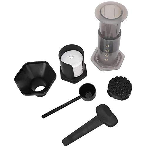 Kaffee- und Espressokocher, 500 ml, tragbare Kaffeemaschine für den Außenbereich, mit 400 Filterpapier für Zuhause, Büro, Reisen