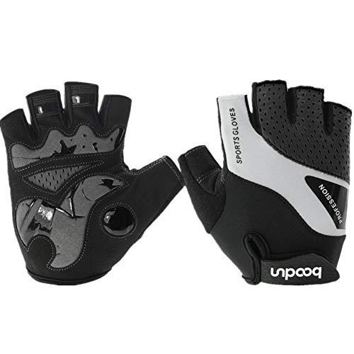 Handschuhe Fingerlos Herren Handschuhe Fingerlos Schwarz Mountainbike Handschuhe Herren Winterhandschuhe für Männer Fahrradhandschuhe für Männer Black,M