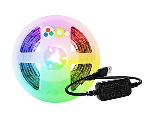 ZigBee RGBCCT Controller + LED Streifen Kit, 2M USB 5V Wasserdicht Strip mit ZigBee App Steuergerät, RGB und Dual-Weiß Zuhause Decke Schrankdeko TV Hintergrundbeleuchtung Licht Stripes Lichtband