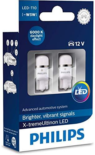 Philips automotive lighting 127996000KX2 X-tremeUltinon LED éclairage intérieur voiture W5W T10 6000K 12V, set de 2, 6.000K