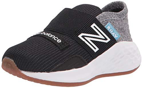 New Balance Men's Fresh Foam Roav V1 Running Shoe Sneaker, Black/Light Aluminum, 10 M US
