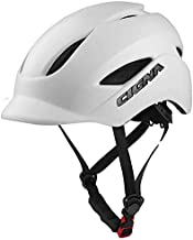 MOKFIRE Adult Bike Helmet That's Light, Cool & Sleek, Bicycle Cycling Helmet CPSC and CE Certified with Rear Light for Urban Commuter Adjustable Size for Adult Men/Women - White