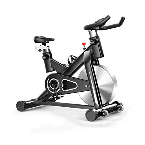DJDLLZY Bicicleta estática, cubierta ciclo de la bici, bicicleta estacionaria, manillar ajustable del asiento resistencia con el pedal antideslizante, Rotar electromagnética bicicletas, for el hogar C