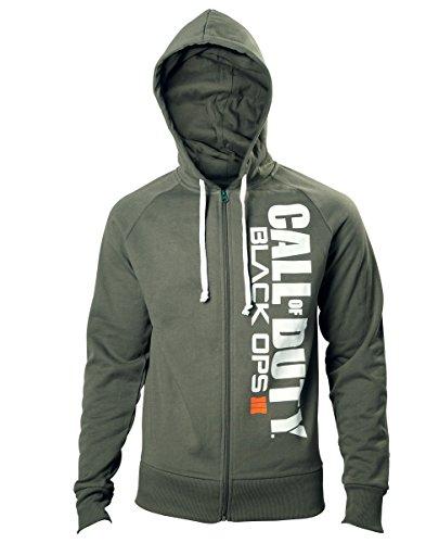 Call of Duty Black Ops 3 Hoodie -XL- Logo, grün