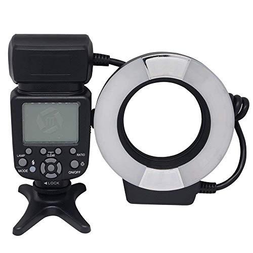 Mcoplus 14EXT-N 5500K Macro TTL Ring Flash Lite for Nikon D7100 D7000 D750 D5300 D5500 D3300 D3100 D800 D600 D90 D80 DSLR Cameras i-TTL with LED AF Assist Lamp