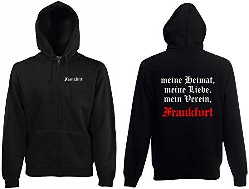 World of Shirt Herren Kapuzenjacke Frankfurt Ultras Meine Heimat