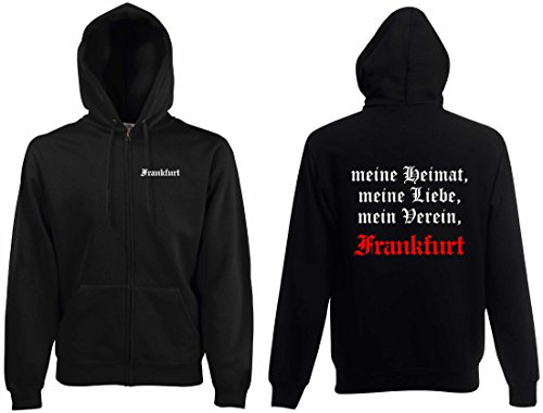 World of Shirt Herren Kapuzenjacke Frankfurt Ultras Meine Heimat