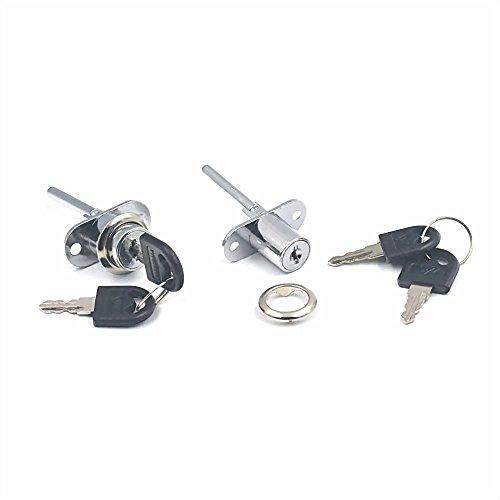 Juego cerradura + 2 llaves muebles cajones, disponible