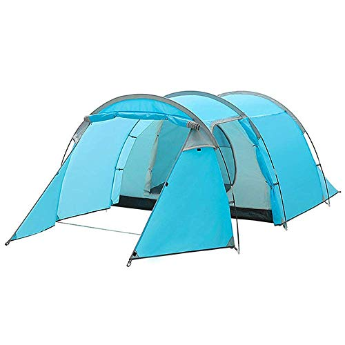LLSS Waterproof Camping Tunnel Tent for 4 Person with Footprint Tarp Easy Instant Pop Up Tent Automatic Hydraulic Rainproof Tent with Rain Fly