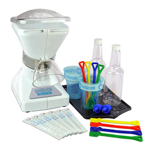 Little Snowie Max Snow Cone Machine - Premium Shaved Ice Maker, With Powder Sticks Syrup Mix, Summer...