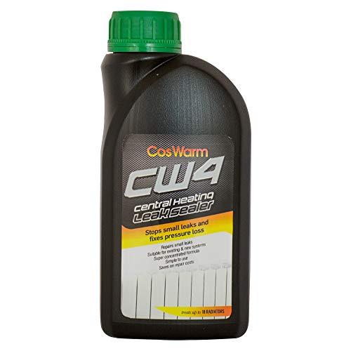 CosWarm CW4 Leak Sealer – Radiator Leck Stop – Heizkessel, Heizkörper und Dichtmittel des Zentralheizunssytems - Behandelt 18 Heizkörper - Anti-Leck-Flüssigkeit