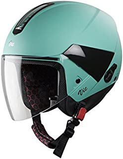 Steelbird SBH-5 VIC Female Glossy Cariban Green with Plain Visor,540 mm