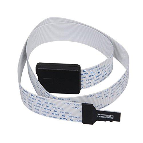 Winwill TF Micro SD a la extensión del Adaptador de Cable de la Tarjeta del SD Extensor Flexible 62CM para el GPS del Coche