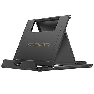 scheda moko supporto tablet, mini supporto portatile tablet, per iphone 12/12 mini/pro/pro max, iphone 11 pro max/11 pro/11, ipad 10.2 2020/10.2/air 4 3/mini 5, galaxy s20, nero