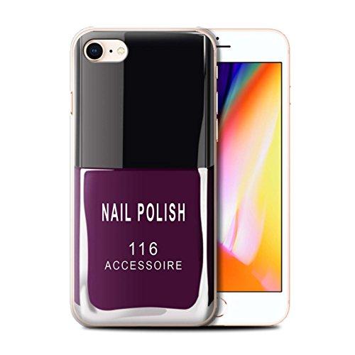 Telefoonhoesje voor Apple iPhone SE 2020 Nagellak/Make Up Paars Ontwerp Transparant Helder Ultra Slank Dun Hard Back Cover