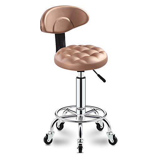 SXFYWYM Massage Beauty kruk met wielen, professionele in hoogte verstelbare spa-stoel kruk manicure tattoo draaistoel
