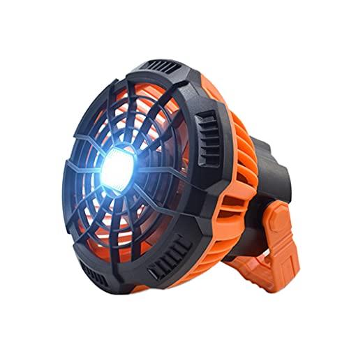 Gazechimp Ventilador para Acampar con Lámpara LED Carpa Portátil Ventilador de Techo Silencioso USB Recargable
