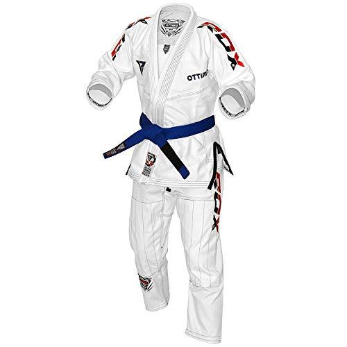 RDX BJJ Gi Anzüge Für Wettbewerb Brazilian Jiu Jitsu Gi Kimono | Kampfsportanzug IBJJF Gürtel Vorgeschrumpft Bekleidung | Erwachsene Uniform Training Absolute Für Herren(MEHRWEG)
