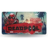 greenhat Funny Dead-Pool License Plate,Decorative Car Front License Plate Vanity Tag,Metal Car Sign for Men Women 6