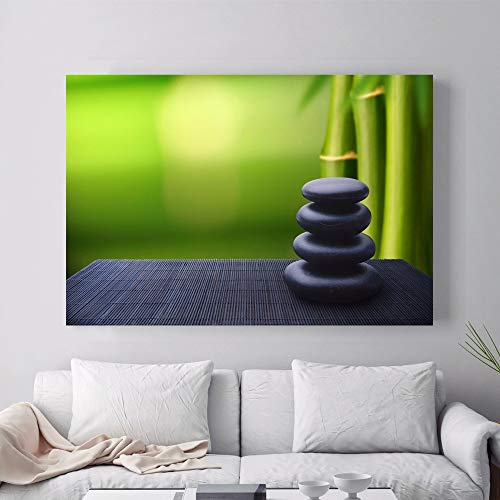 ganlanshu Zen Buddha Friedenssteinpflanze Poster Leinwand Wandbild Home Decoration Poster und Druckgrafik,Rahmenlose Malerei-30X40cm