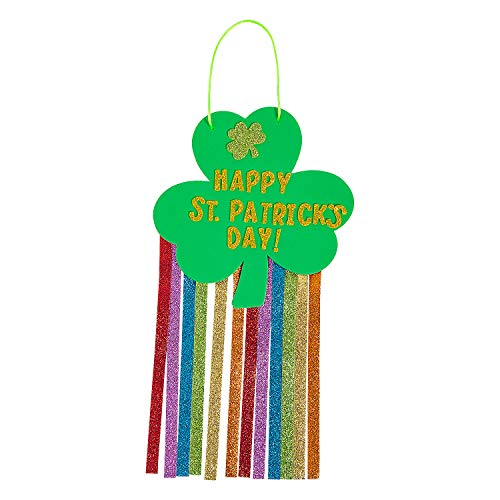 ST. PATRICK'S DAY GLITTER HANGING CK-12 - Craft Kits - 12 Pieces