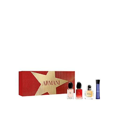 Giorgio Armani Women's Luxury Miniatures Gift Set 7 ml SI EDP + 7 ml Si Passione EDP + 7 ml Becouse its you + Code EDP 7ml EDP