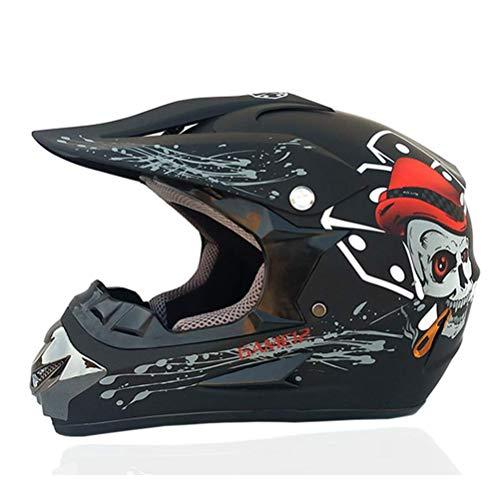 Casco de motocicleta ABS Rmotorcycle Casco clásico de la bicicleta MTB DH compite con el casco del motocrós de la bici de descenso anteojos del casco del casco de la juventud del motocrós de los niños