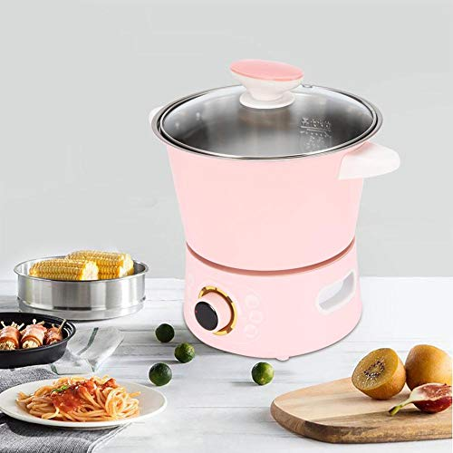 Elektrischer Topf, Multifunktionstopf aus 304 Edelstahl, Electric Cooking Pot für gekocht, gebraten, gedünstet, gedämpft, 25 x 20 x 19 cm