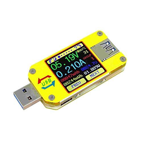 MongKok UM34C / UM34 DC voltmeter ampmeter spanningsmeter app, USB 3.0 type-C batterijlader, meetkabelweerstandstester
