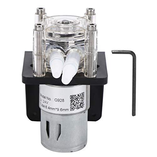 Bomba peristáltica de flujo grande de alta calidad resistente a la corrosión con cabezal de PC transparente Bomba peristáltica de 500 ml/min con llave(24V)
