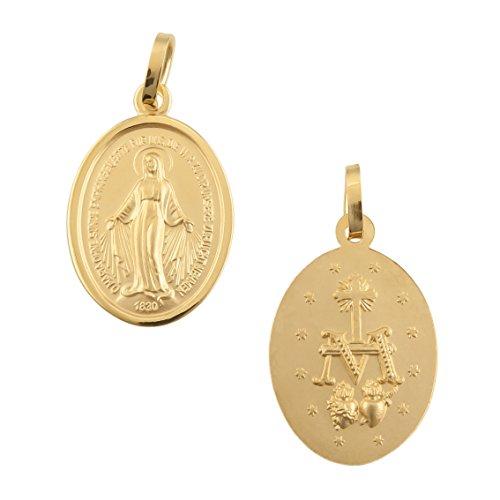 Madonna Maria Immaculata Milagrosa Anhänger 8 Karat 333 Gold Gelbgold (Ohne Kette) 94820
